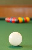 Cue ball with more in the background Stock Photography