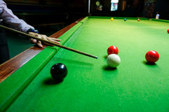 The cue of ball for a shot Stock Photography