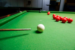 The cue of ball for a shot Royalty Free Stock Photo