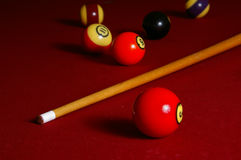 Cue & Balls Stock Photography