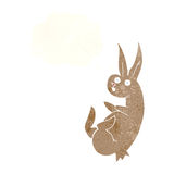 cue cartoon rabbit with thought bubble Royalty Free Stock Photography