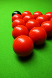 Cue stick and snooker balls Stock Photo