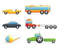 Cue transportation icons Royalty Free Stock Photography