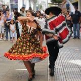 Cueca Chilena, ballo tradizionale Fotografia Stock Libera da Diritti