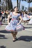 Cueca Chilena, danse traditionnelle Photo stock