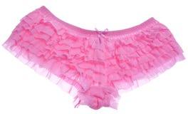 Cuecas cor-de-rosa Ruffled Foto de Stock