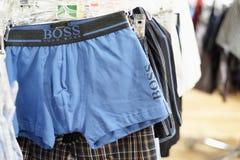 Cuecas de Hugo Boss fotografia de stock