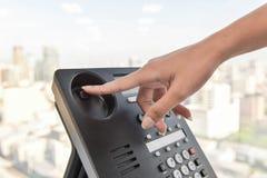 Cuelgue para arriba la llamada de teléfono fotos de archivo libres de regalías