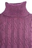 Cuello alto púrpura del algodón Fotos de archivo
