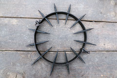Cuello claveteado del castigo Imagen de archivo libre de regalías
