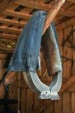Cuello de caballo - una vieja cosa de antaño abrazadera Fotos de archivo