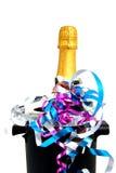 Cuello de la botella cerrada del champán Fotografía de archivo libre de regalías