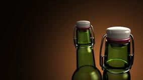 Cuello de la botella de cerveza stock de ilustración