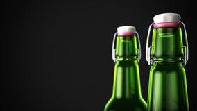 Cuello de la botella de cerveza ilustración del vector