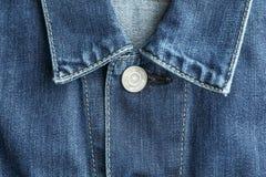 Cuello de la chaqueta del dril de algodón como fondo fotos de archivo libres de regalías