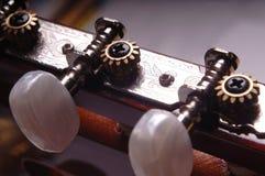 Cuello de la guitarra Foto de archivo libre de regalías