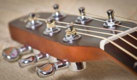 Cuello de la guitarra acústica Imagen de archivo libre de regalías