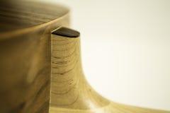 Cuello de la guitarra acústica y combate superior Foto de archivo libre de regalías