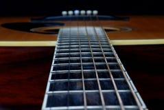 Cuello de la guitarra al cuerpo Imágenes de archivo libres de regalías