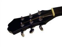 Cuello de la guitarra en el fondo blanco Fotografía de archivo