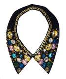 Cuello decorativo adornado con joyería de la moda Fotos de archivo