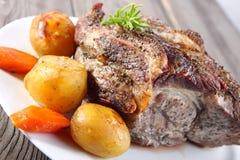 Cuello del cerdo de carne asada Fotos de archivo libres de regalías