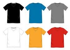 Cuello en v de la camiseta de la plantilla Fotos de archivo libres de regalías