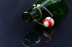 Cuello vacío de las botellas Foto de archivo libre de regalías