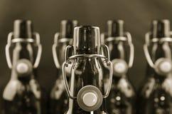 Cuello vacío de las botellas Imagen de archivo