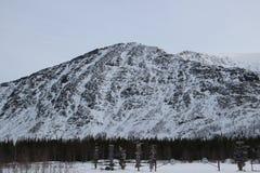 Cuelporre. Winter walk to the mountains of Khibiny Stock Photo