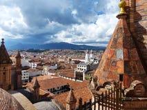 Cuenca, городской пейзаж эквадора исторического центра стоковая фотография