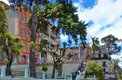Cuenca, Azuay province, Ecuador. Street 3 de November royalty free stock images