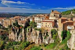 Cuenca. borttappat i klippor Arkivfoto