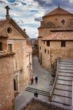 Cuenca CastileLa Mancha, Spanien, Sao Pedro Church Arkivfoto