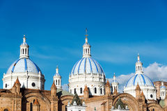 Cuenca Cathedral Domes Royalty Free Stock Images