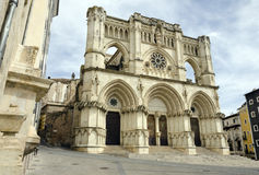 Cuenca Cathedral. Gothic cathedral of the Cuenca (Basilica of Our Lady of Grace), Castilla La Mancha, Spain Stock Images