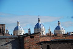 Cuenca church Royalty Free Stock Photos