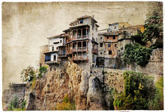 Cuenca - ciudad medieval de España. Fotos de archivo