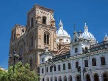 Cuenca - domkyrka av den obefläckade befruktningen, Ecuador Fotografering för Bildbyråer