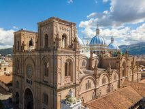 Sunny day on the immaculate conception Cuenca Ecuador. Cuenca Ecuador June 2018 this is the cathedral of the immaculate conception and is the most representative stock photo