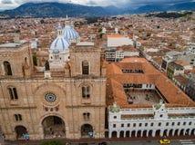 Cuenca Ecuador/Oktober 21, 2017 - flyg- sikt av det iconic net arkivfoto