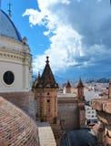 Cuenca, Ecuador Paesaggio urbano del centro storico fotografie stock libere da diritti