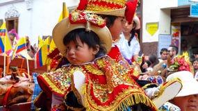 Cuenca, Ecuador. Parade Paseo del Nino on Christmas royalty free stock photography