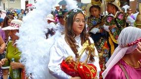 Cuenca, Ecuador. Parade Paseo del Nino on Christmas royalty free stock photo