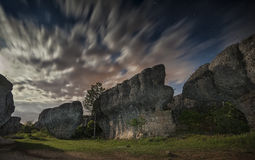 Cuenca the enchanted city. Night photography Cuenca in Spain Royalty Free Stock Photography