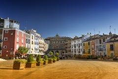 Cuenca España, cuadrado de la catedral Foto de archivo libre de regalías