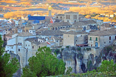 Cuenca gammal stad, Spanien Arkivbilder
