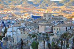 Cuenca gammal stad, Spanien Fotografering för Bildbyråer