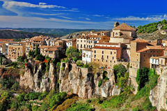 Cuenca. lost in cliffs Stock Photo