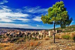 Cuenca. lost in cliffs Stock Photography